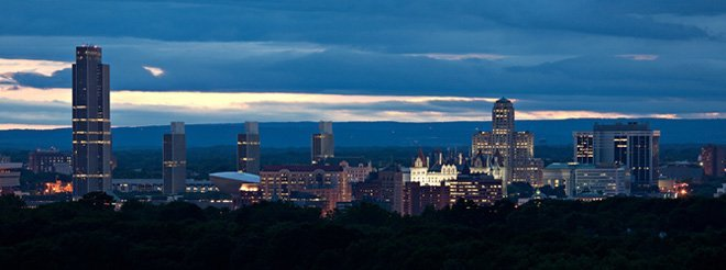 Albany ny skyline by cloudy zebra seo