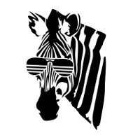 funny zebra picture wearing glasses