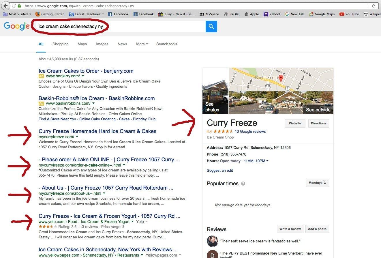 Curry Freeze SEO Rankings