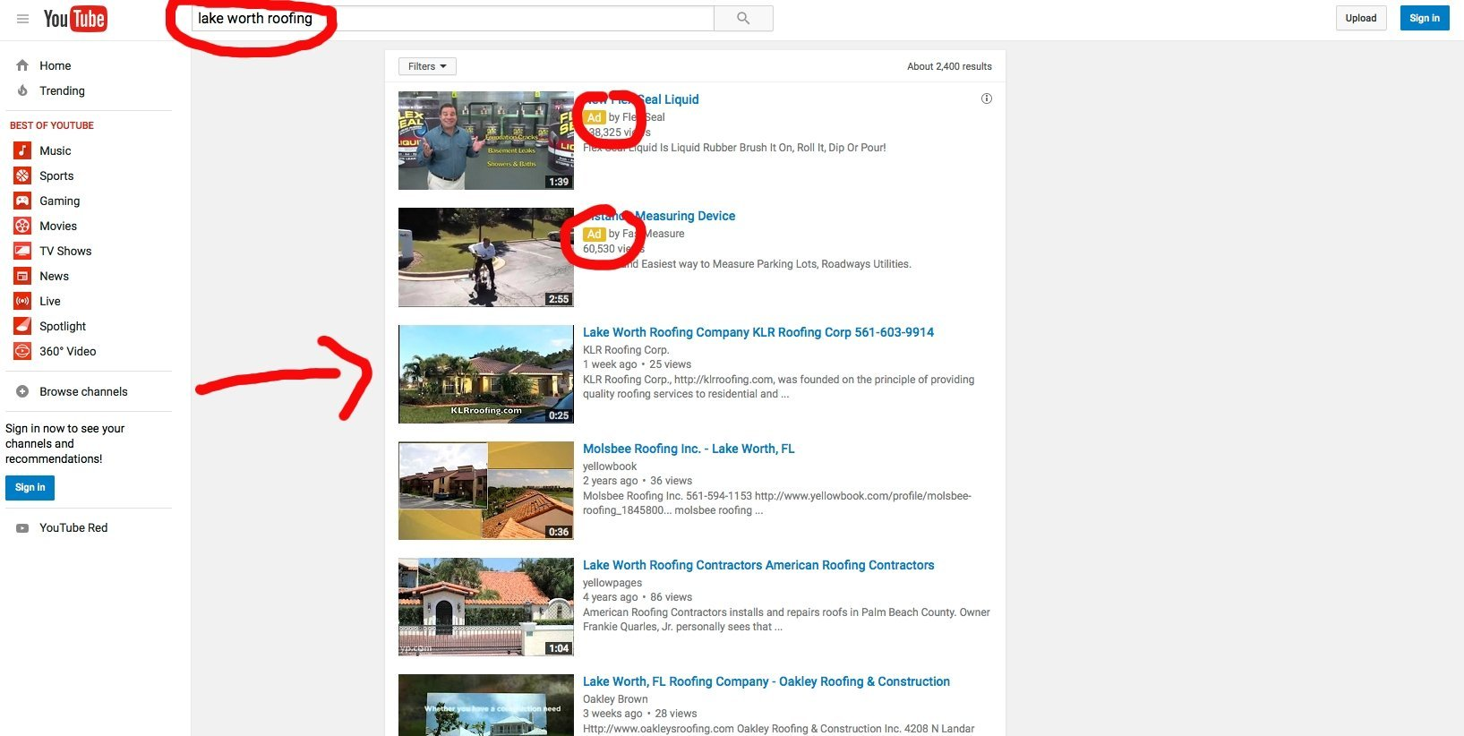 Roofing Video Ranking SEO